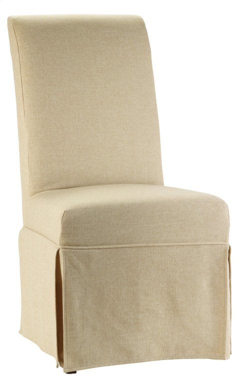 Dining Room Clarice Skirted Chair Jade White