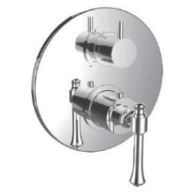 """1/2"""" Thermostatic Trim With 3-way Diverter Trim (shared Function) in Satin Chrome"""