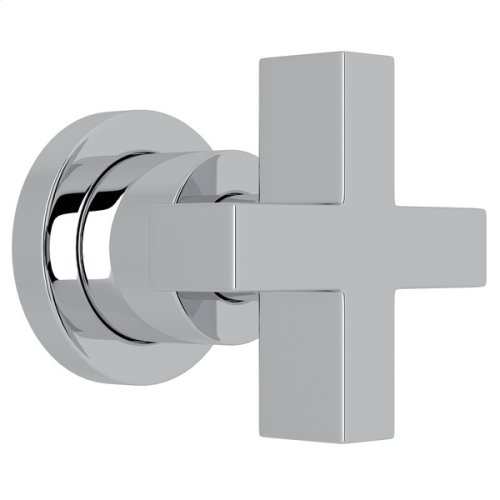 "Polished Chrome Pirellone 3/4"" Volume Control Trim with Cross Handle"