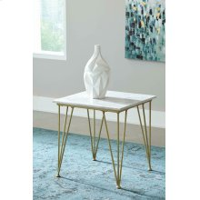 Modern White and Gold Side Table