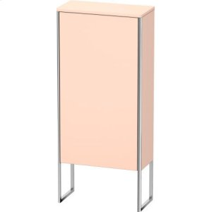 Semi-tall Cabinet Floorstanding, Apricot Pearl Satin Matt Lacquer