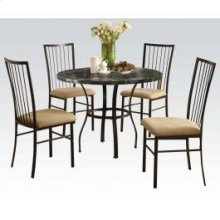 "36""dia Bk 5pc Pack Dining Set"