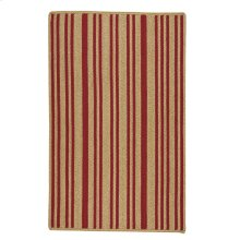 LM-Red Stripe Scarlet Braided Rugs