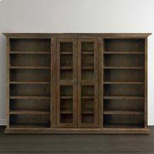 Emporium Smoked Oak Compass Tall Triple Storage Cabinet
