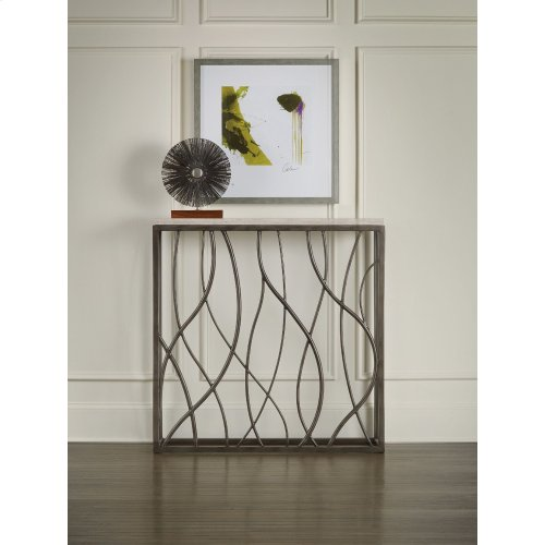 Living Room Thin Metal Console