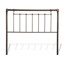 Legion Metal Sleigh-Styled Headboard Panel with Twisted Rope Top Rail, Ancient Gold Finish, California King