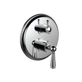 "1/2"" Thermostatic Trim With Volume Control and 3-way Diverter in Bright Pewter"