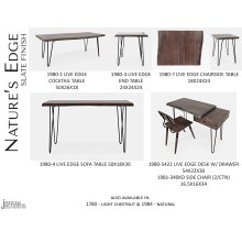 Nature's Edge Desk W/ Drawer-brushed Grey