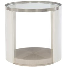 Axiom Round Chairside Table in Linear Gray (381)