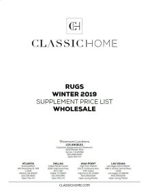 2019 Rug Pricelist Winter - Wholesale