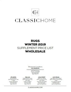 2019 Rug Pricelist Winter - Wholesale Product Image