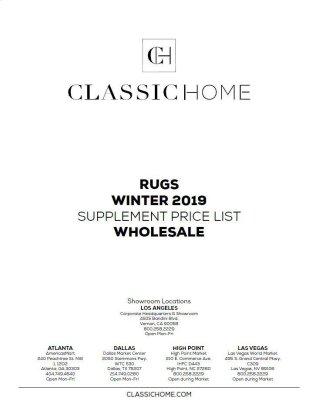 2019 Rug Pricelist Winter - Wholesale
