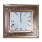 Square Clock W/rose Gold Trim Product Image