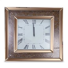 Square Clock W/rose Gold Trim