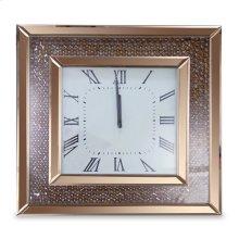 Square Clock W/rose Gold Trim