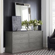 French Grey Martinique 6 Drawer Dresser