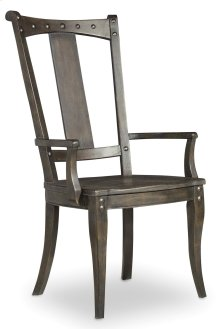 Dining Room Vintage West Splatback Arm Chair