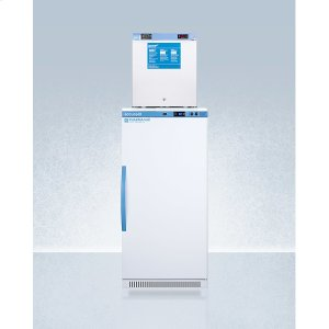 SummitStacked Combination of Ars8pv All-refrigerator and Fs24lmed2 Compact Manual Defrost All-freezer for Vaccine Storage