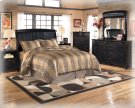 CLEARANCE!!!  Bonded Leather Queen Bed.  Includes Headboard, Footboard,and Rails Product Image
