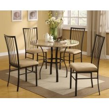 """36""""DIA WH 5PC PACK DINING SET"""