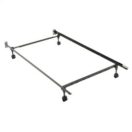 Sentry PL7960R Adjustable Posi-lock Bed Frame with Headboard Brackets and (4) 2-Inch Rug Roller Legs, Twin - Queen