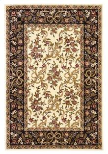 "Cambridge 7310 Ivory/black Floral Ribbons 5'3"" X 7'7"""