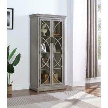Rustic Antique Grey Curio Cabinet