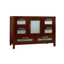 "Athena 48"" Bathroom Vanity Base Cabinet in Dark Cherry"