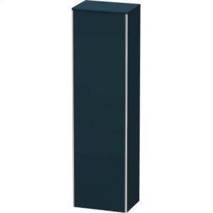 Tall Cabinet, Night Blue Satin Matt Lacquer