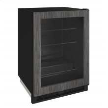 "1000 Series 24"" Glass Door Refrigerator With Integrated Frame Finish and Field Reversible Door Swing (115 Volts / 60 Hz)"