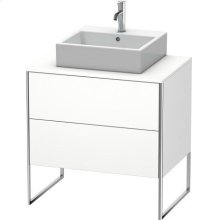 Vanity Unit For Console Floorstanding, White Matt