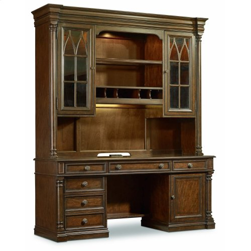 Home Office Leesburg Computer Credenza Hutch