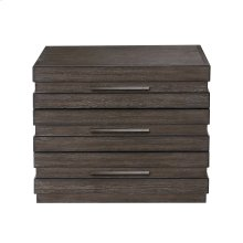 Stackhaus 3 Drawer Nightstand in Dark Brown