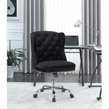 Modern Black Velvet Office Chair