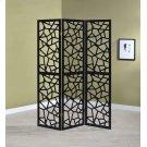 Transitional Black Three-panel Screen Product Image