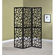 Transitional Black Three-panel Screen Product Image