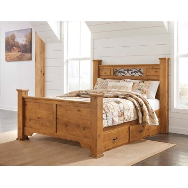Bittersweet - Light Brown 5 Piece Bed Set (Queen)