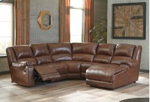 5 Pc RAF Chaise Reclining Sectional
