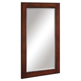 32 in. L x 18 in. W Wall Mirror in Dark Cherry
