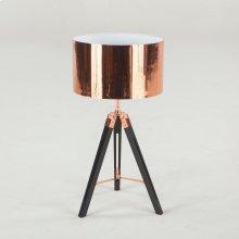 "Luz Table Lamp 27"" Black Metal with Copper Interior"