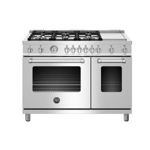 "Bertazzoni48"" Master Series range - Gas Oven - 6 aluminum burners + griddle - LP version"