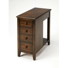 The perfect companion beside the sofa or next to your favorite easy chair, this stylish chairside chest was designed to fit into narrow spaces at just under 12 wide. Crafted from rubberwood solids and wood products, it boasts a rich Plantation Cherry fini