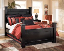 Shay - Almost Black 4 Piece Bed Set (King)