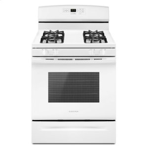 30-inch Gas Range with Self-Clean Option White - WHITE