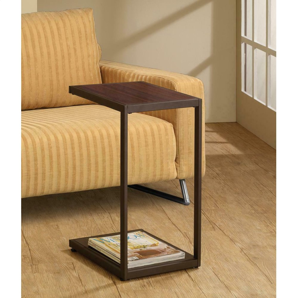Contemporary Brown Snack Table
