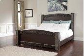 Vachel - Dark Brown 4 Piece Bed Set (King)