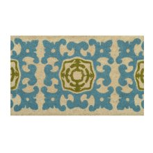Doormat Sacha Teal/Green 18x30