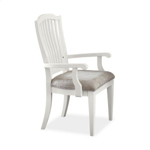 Hillsdale FurnitureRockport Dining Chairs With Arms - White - Set of 2