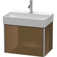 Vanity Unit Wall-mounted Compact, Olive Brown High Gloss Lacquer