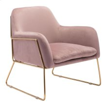 Nadir Arm Chair Pink Velvet